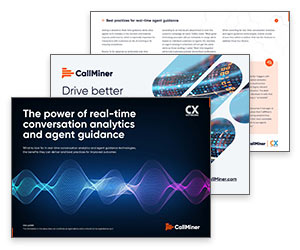 White Paper: The Power of Real-Time Conversation Analytics and Agent Guidance Thumbnail