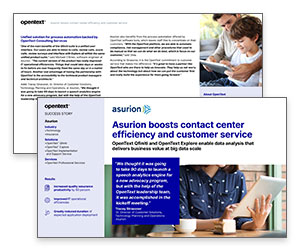 Case Study: Asurion Boosts Contact Center Efficiency and Customer Service Thumbnail