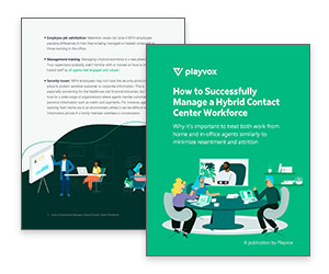 eBook: How to Successfully Manage a Hybrid Contact Center Workforce Thumbnail
