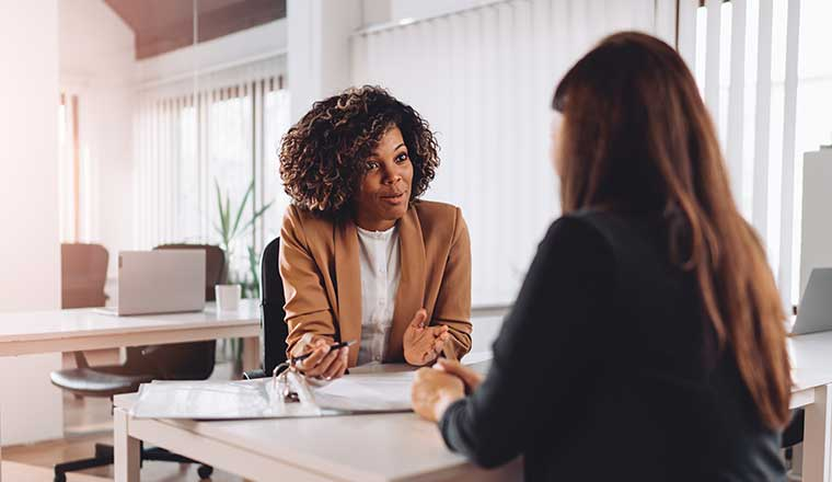 interview between 2 women