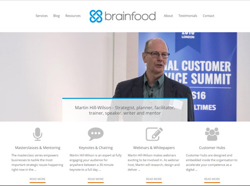 A screenshot of Brainfood Extra