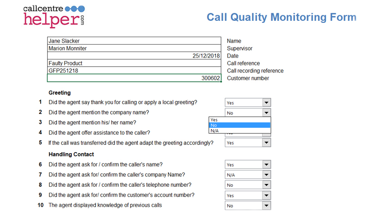 Follow the link to access the full version of our call quality scorecard