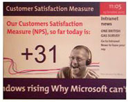 Show your Net Promoter scores on your wall boards