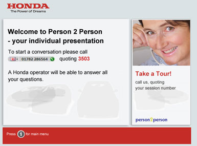 Honda branded website