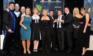 British Gas winners of the best contact centre over 100 seats