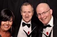 Tesco staff with their awards