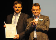 John Barr and Darren Hockle accepting the award