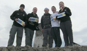 Lewis and his team mates scale Ben Nevis