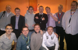 The team sporting their moustaches