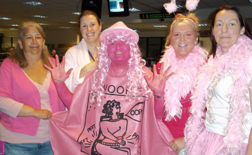 QVC staff raising money for Breast Cancer Care