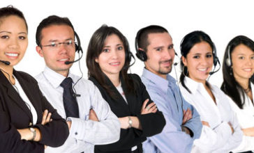 Poitive call centre agents