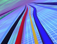 coloured lines running parallel