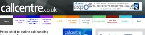 screen shot of ccf site