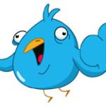 blue twitter bird expressing his views