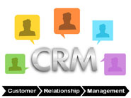 the word crm surrounded by coloured head outlines