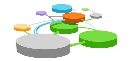 lots of linked circles