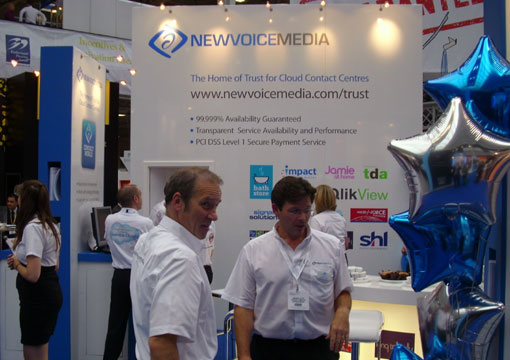 NewVoiceMedia stand at CC Expo