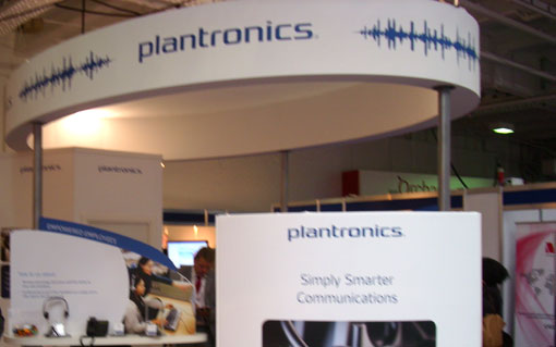 Plantronics stand at CC Expo