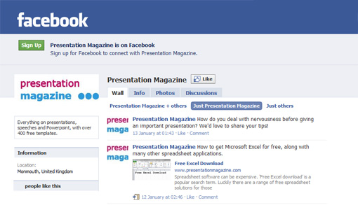 The Presentation Magzine Facebook page