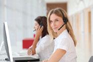 female call centre agent