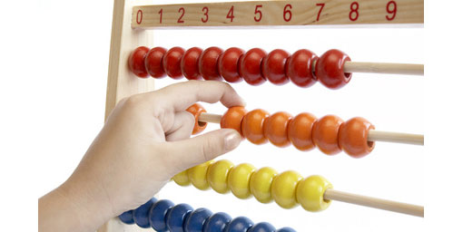 different colour beads on an abacus