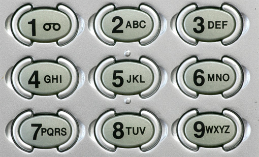 By looking at the keypad . Those are not only for texting!
