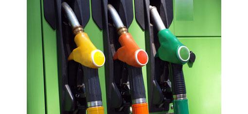 coloured petrol pumps