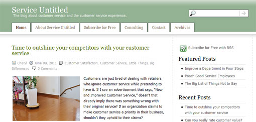 screen shot of service untitled site