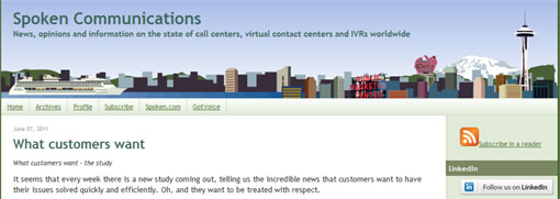 Screenshot of Spoken Communications site