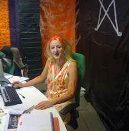 scary lady at her desk