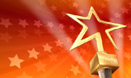 Gold star award