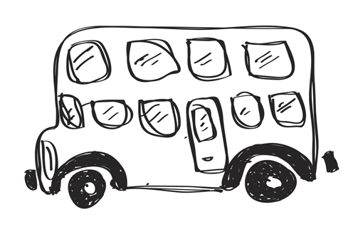A sketch of a bus