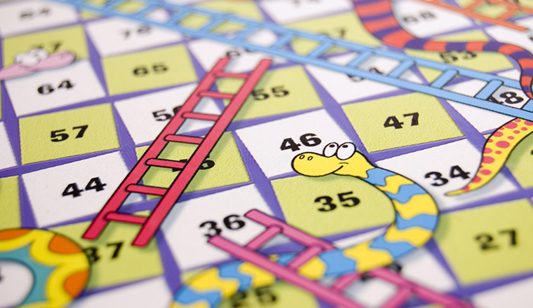 picture about Chutes and Ladders Board Printable named Snakes and Ladders Get hold of Center Recreation Template
