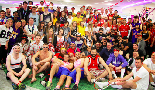 agents took full advantage of a sports-themed dress down day