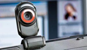 webcam on computer