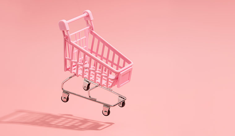 A picture of a shopping trolley