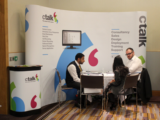 Headline sponsors of the event ctalk showing their latest ctalk solutions