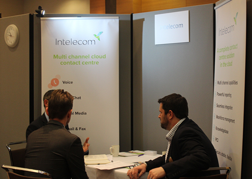 Intelecom speaking to lots of call centre professionals