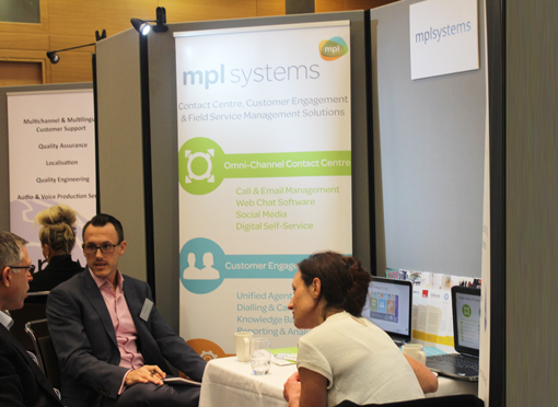 A busy morning on the mplsystems stand