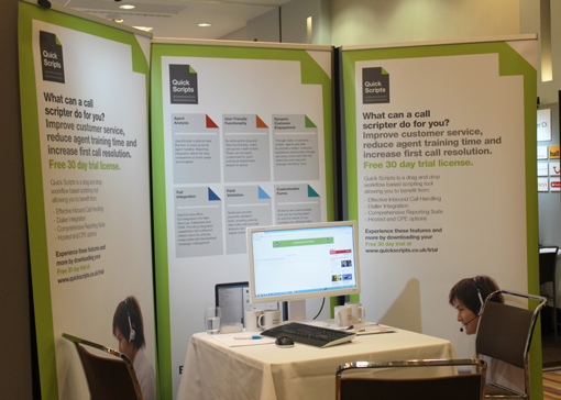 The Quickscript stand ready and waiting for the next meeting.