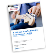 A 10-Point Plan To Tune Up Your Contact Centre Front Cover