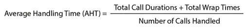 A picture of the equation used to calculate AHT