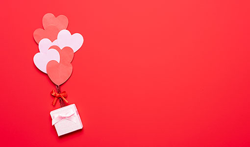 A picture of a valentines celebration gift