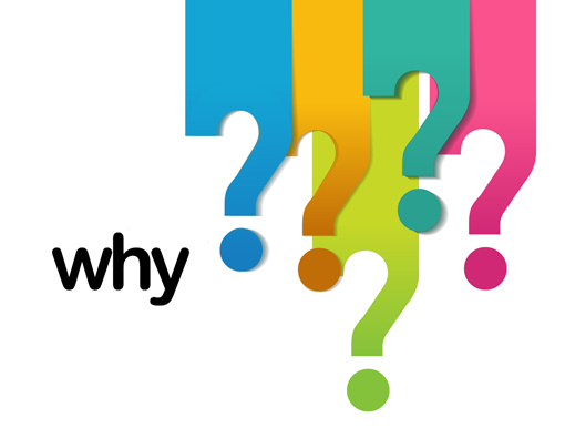 A series of questions marks next to the question 'why'