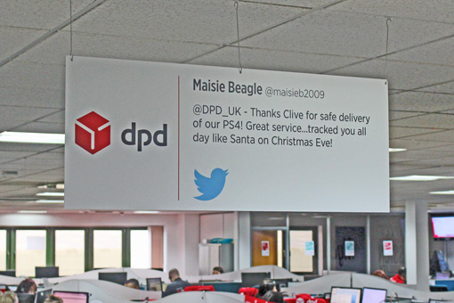 Take a look at how DPD share good feedback...