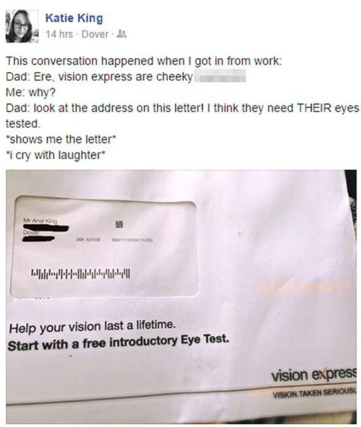 Vision Express Letter