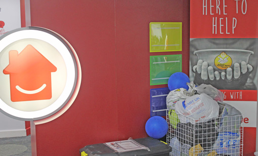 Homeserve also have clothes and good bins around the contact centre, to donate to charity