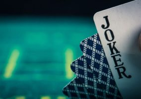 Pack of Cards showing Joker