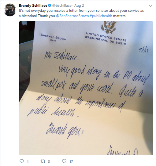 how to write a thank you letter to a state representative