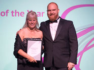 Jacqueline Spencer receives her Manager of the Year award